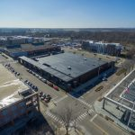 Another aerial photo of the new Post Office roof